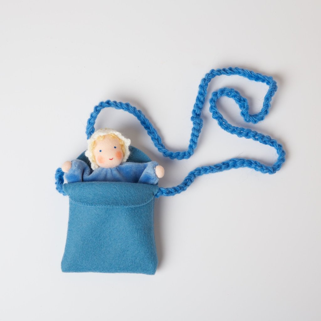 Baby Doll with Felt Bag