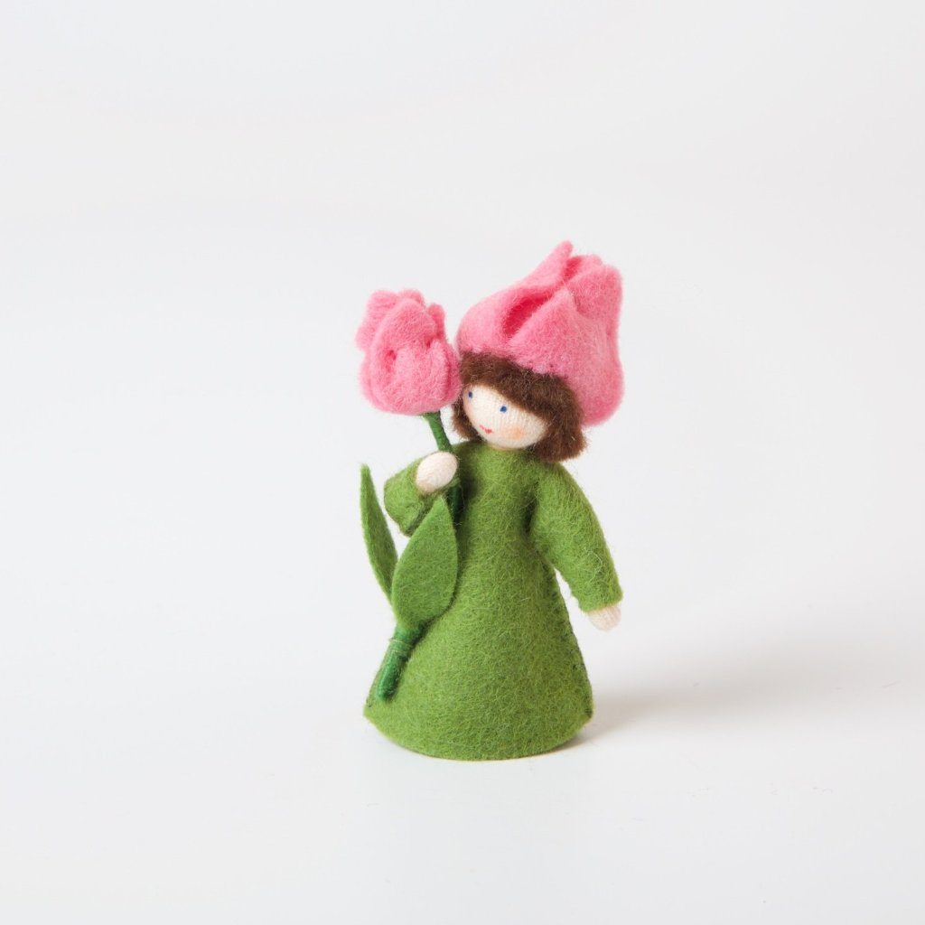Flower Fairy With Flower In Hand | Pink Tulip