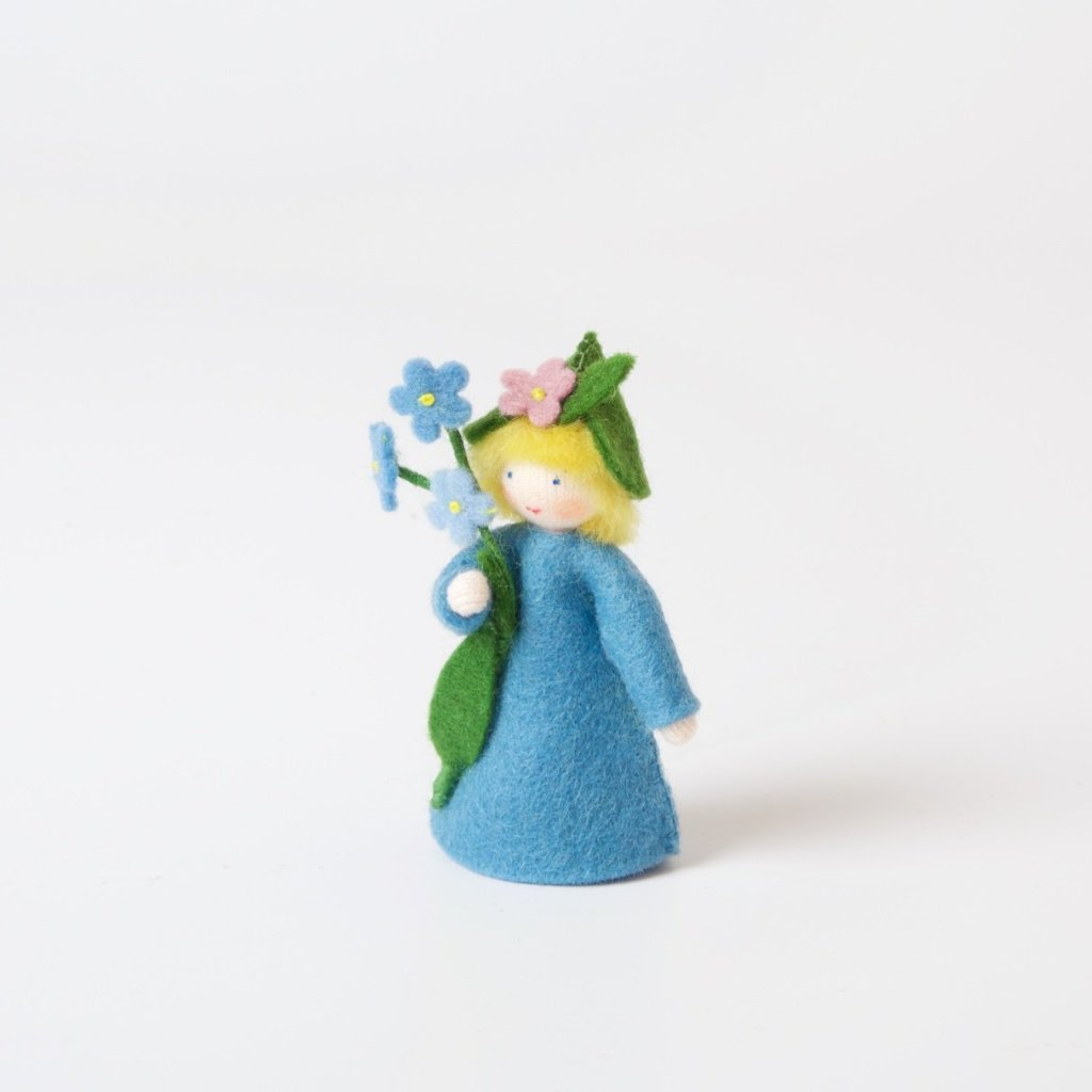 Flower Fairy With Flower In Hand | Forget-me-not