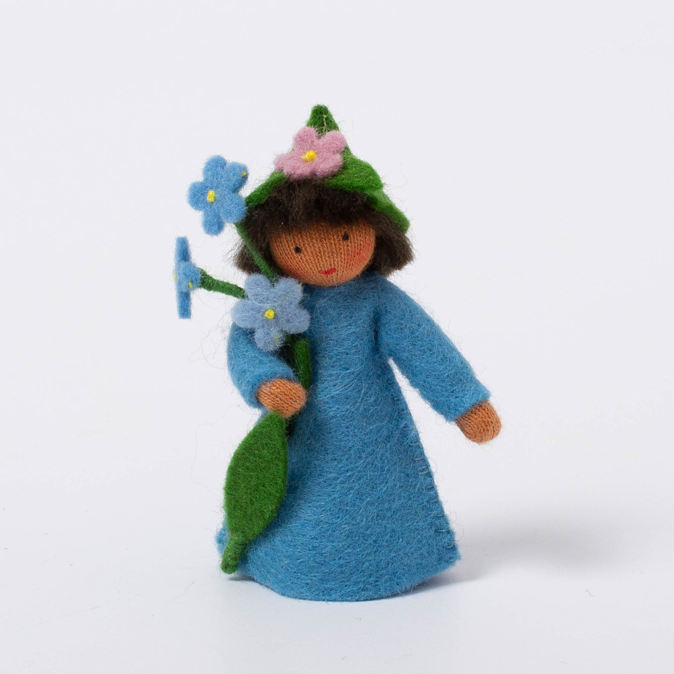 Felt Flower Fairy | Forget-me-not | Medium Skin Tone