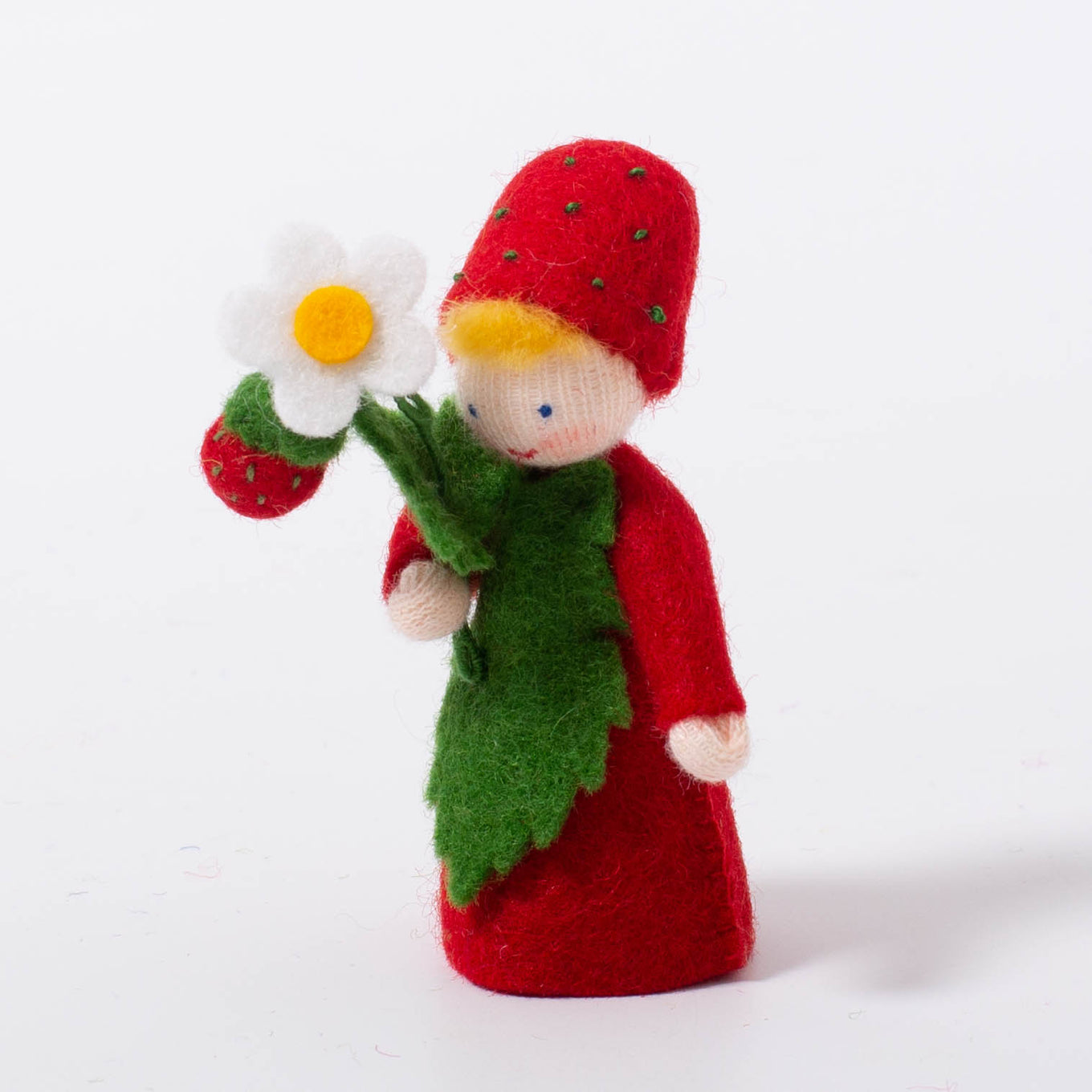 Felt Flower Fairy Strawberry Boy | Light Skin Tone