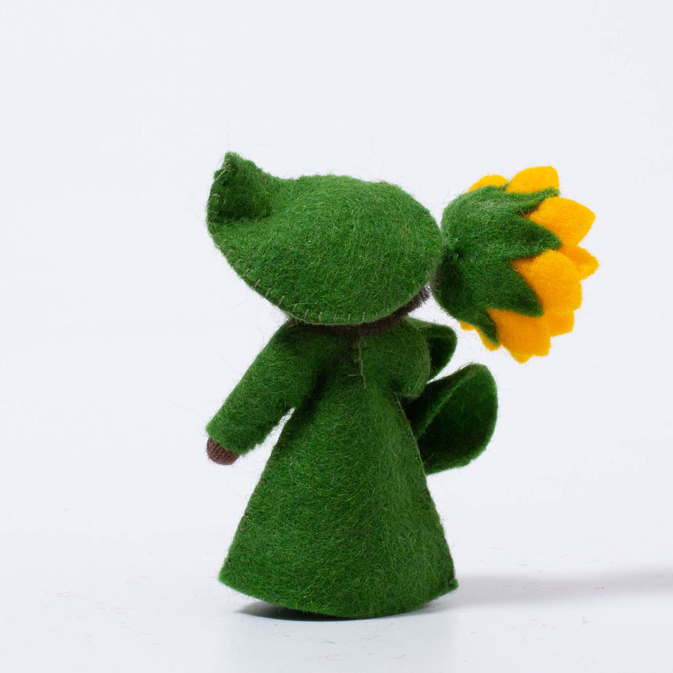 Felt Flower Fairy Sunflower in hand | Dark Skin Tone