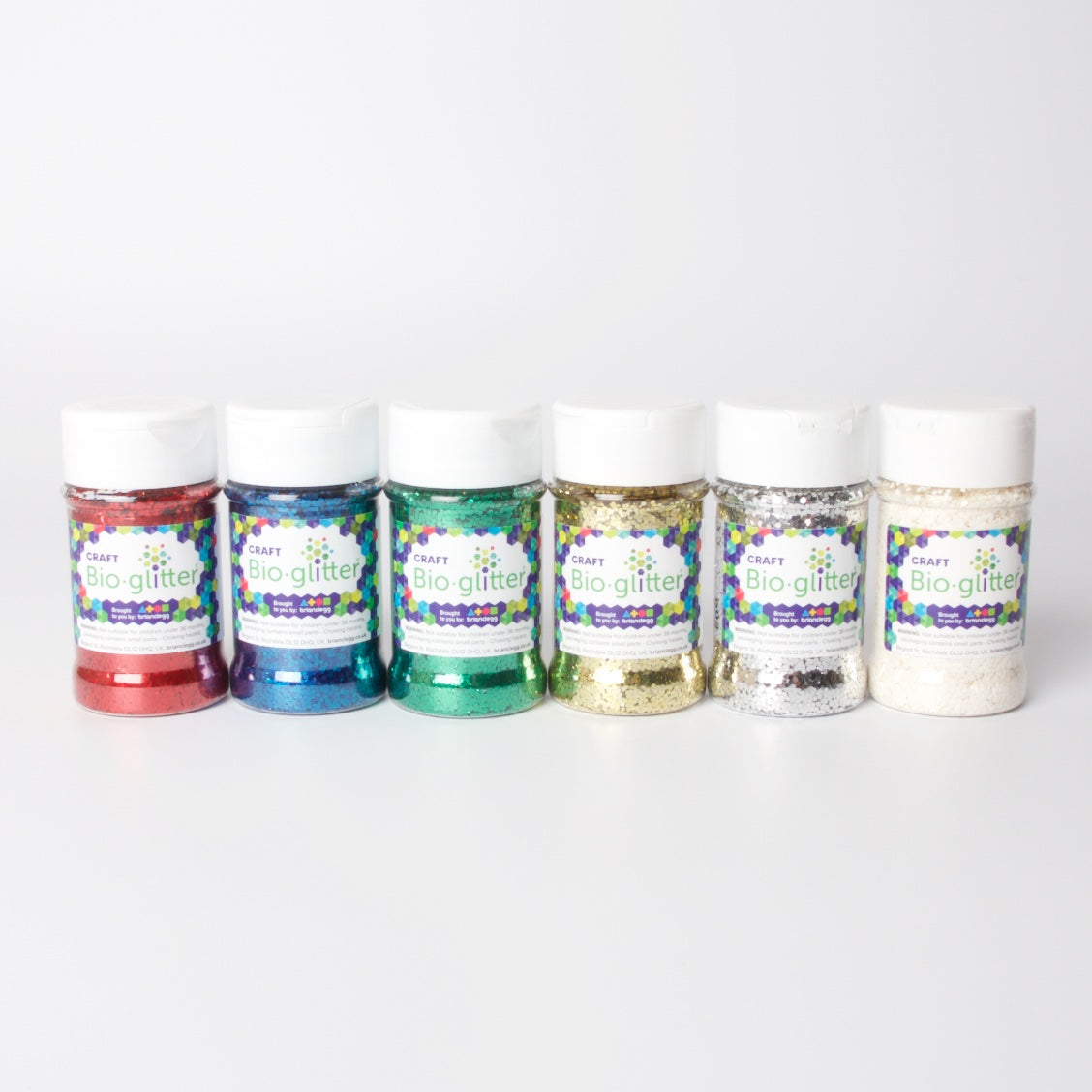 Craft Bio-Glitter 60g Shakers | 6 Colours