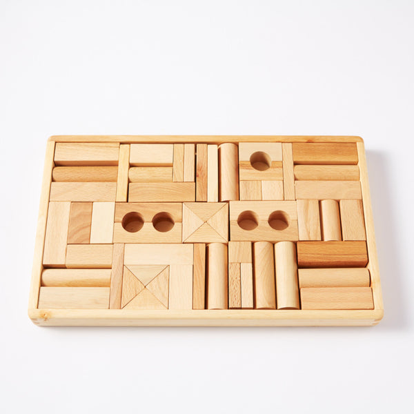 54 Natural Wooden Blocks from Wooden Story