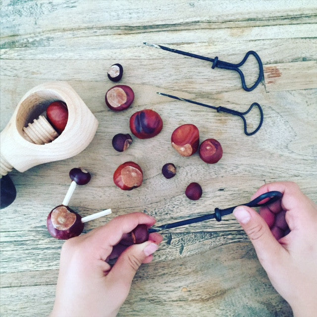 Conker Kit | Nutcracker with Awls for boring and Toothpicks