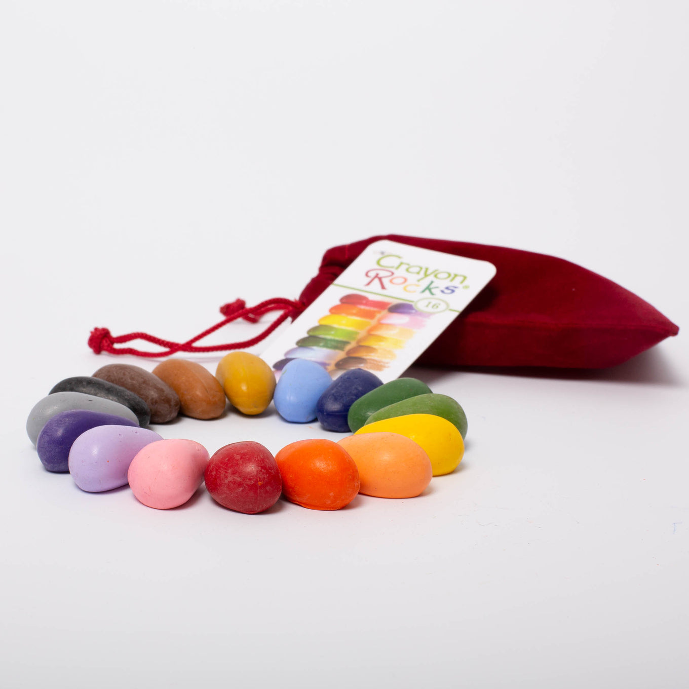 Crayon Rocks® | 16 colours in Velvet bag