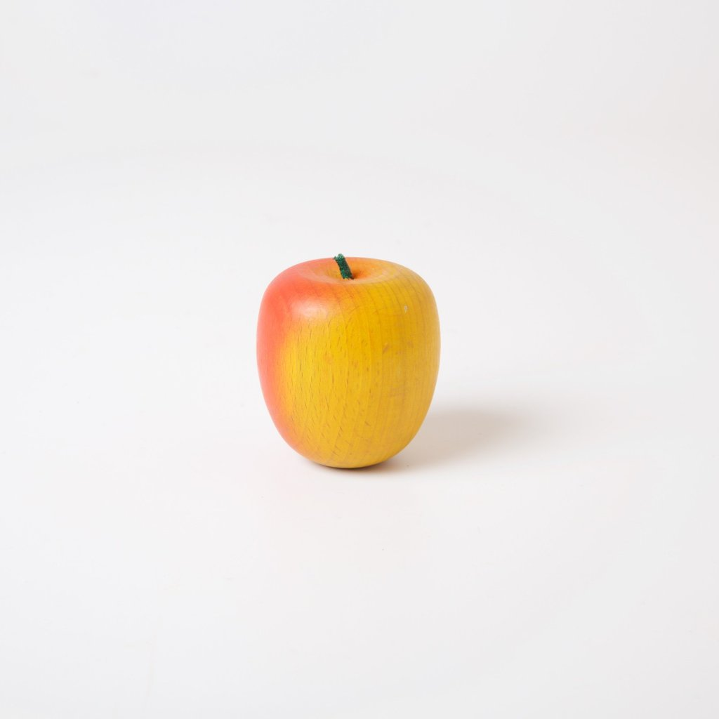 Wooden Fruit | Yellow Red Apple