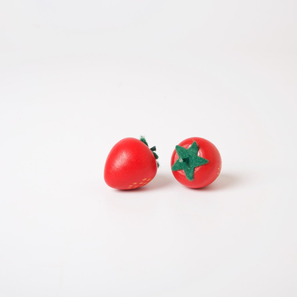 Wooden Fruit | Red Strawberry
