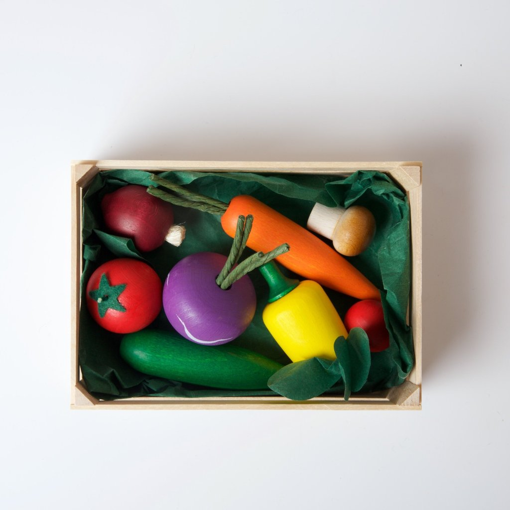 Wooden Vegetable Play Food Set