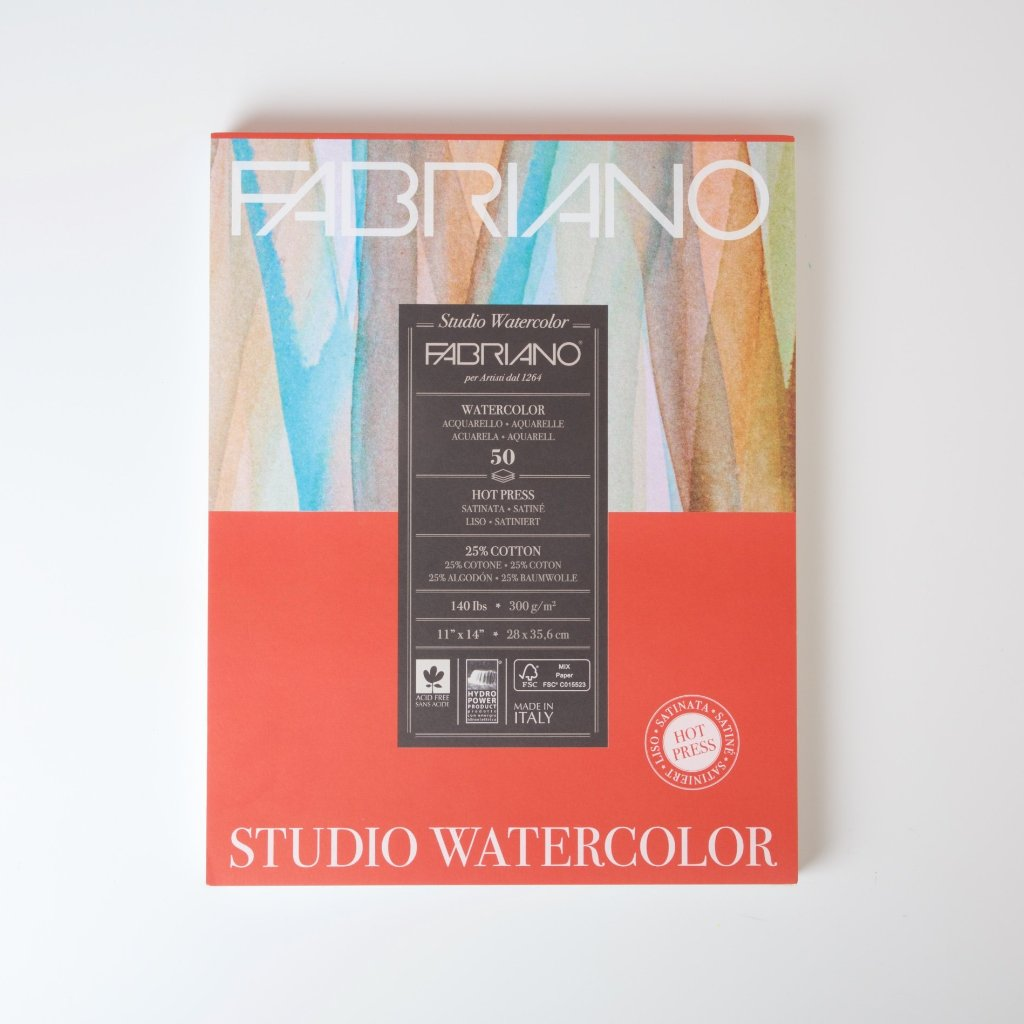 Fabriano Studio Watercolour Pad | Large Portrait 50 sheets