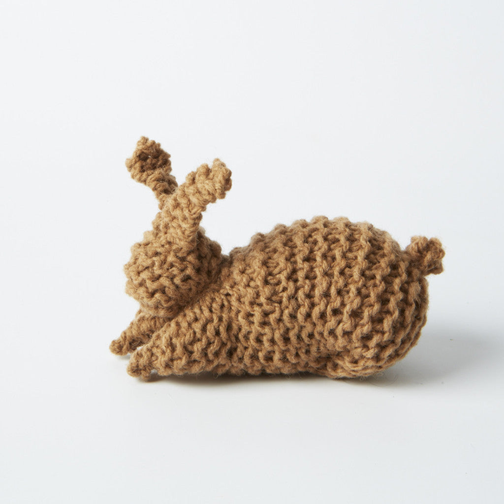 Organic Wool Knitting Kit - Rabbit