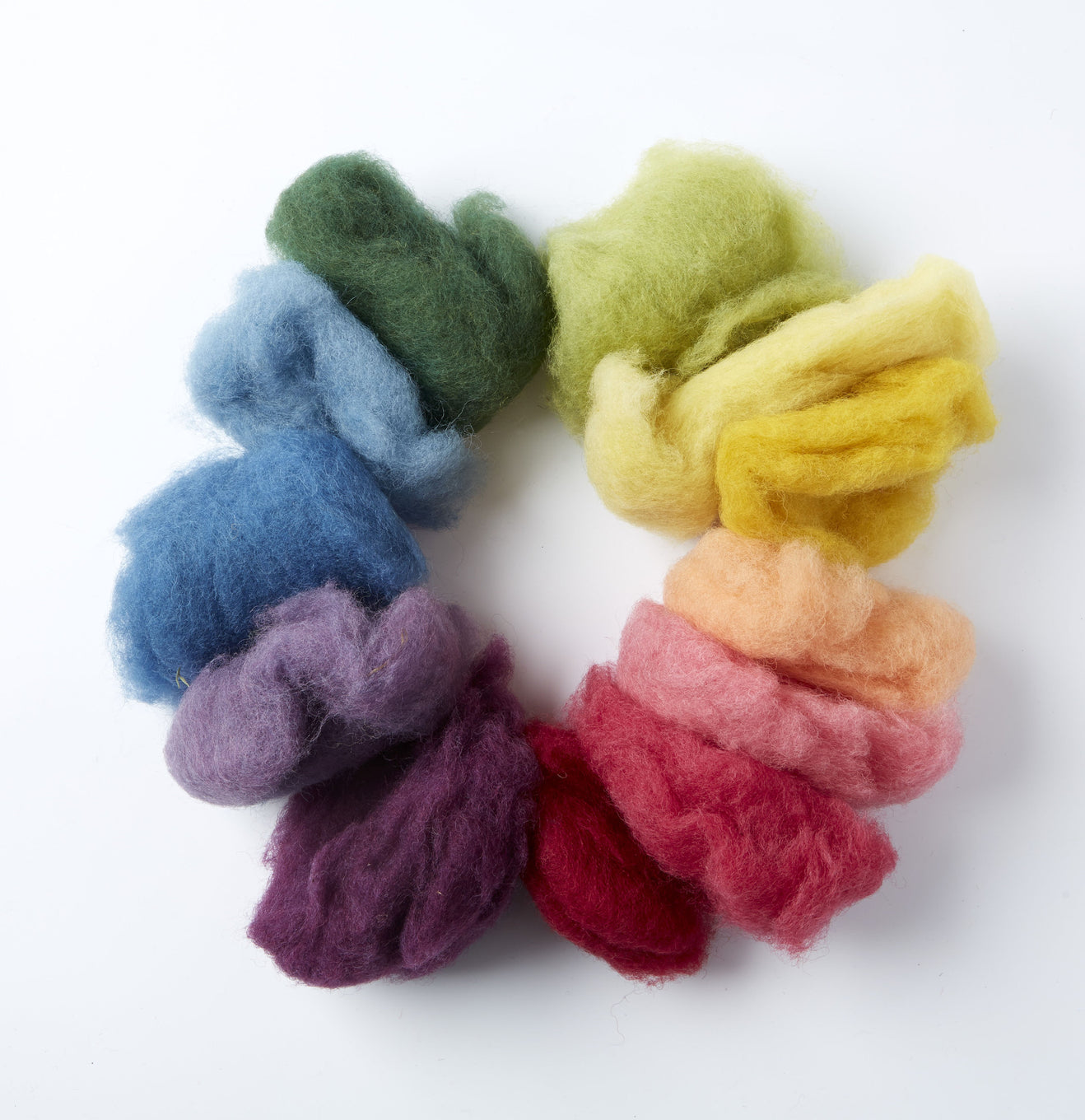 Organic Fairy Wool - Assorted colours (12)