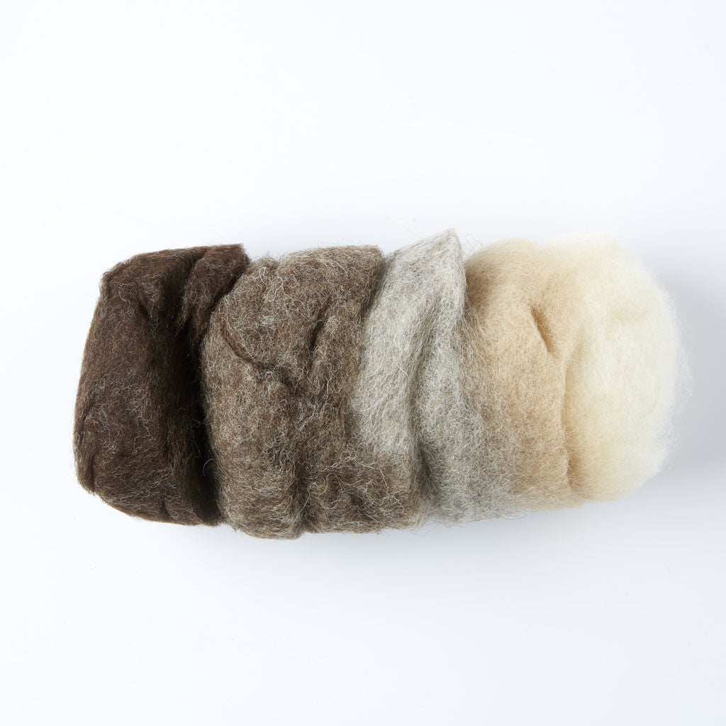 Organic Fairy Wool - Natural Shades