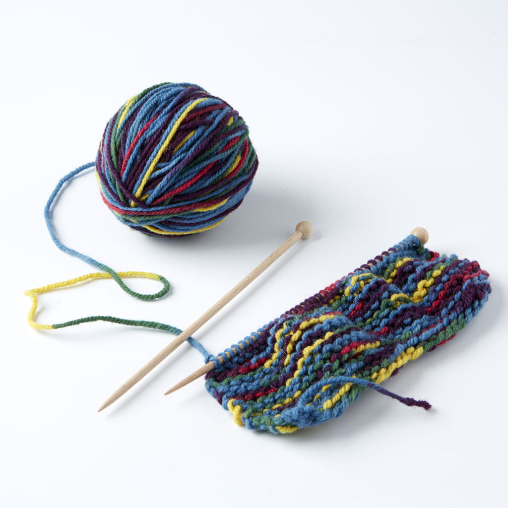 Organic Knitting Kit for Children - Soft Pastel Shades