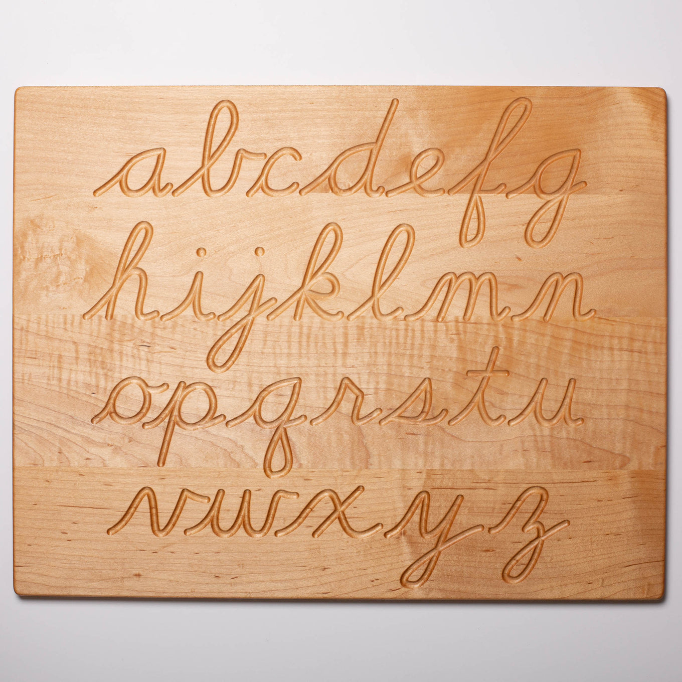 Reversible Wooden Alphabet Tracing Board | Cursive
