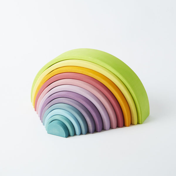 Grimm's 12 Piece Pastel Rainbow - Conscious Craft