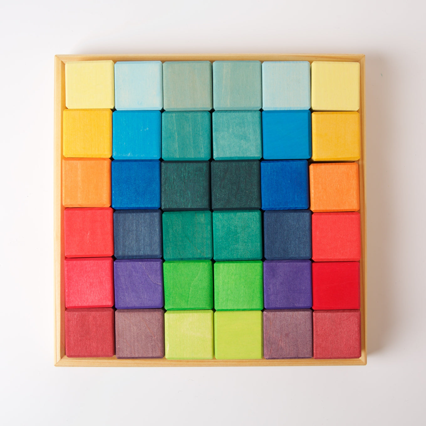 Square | 36 Cubes | Rainbow Colours