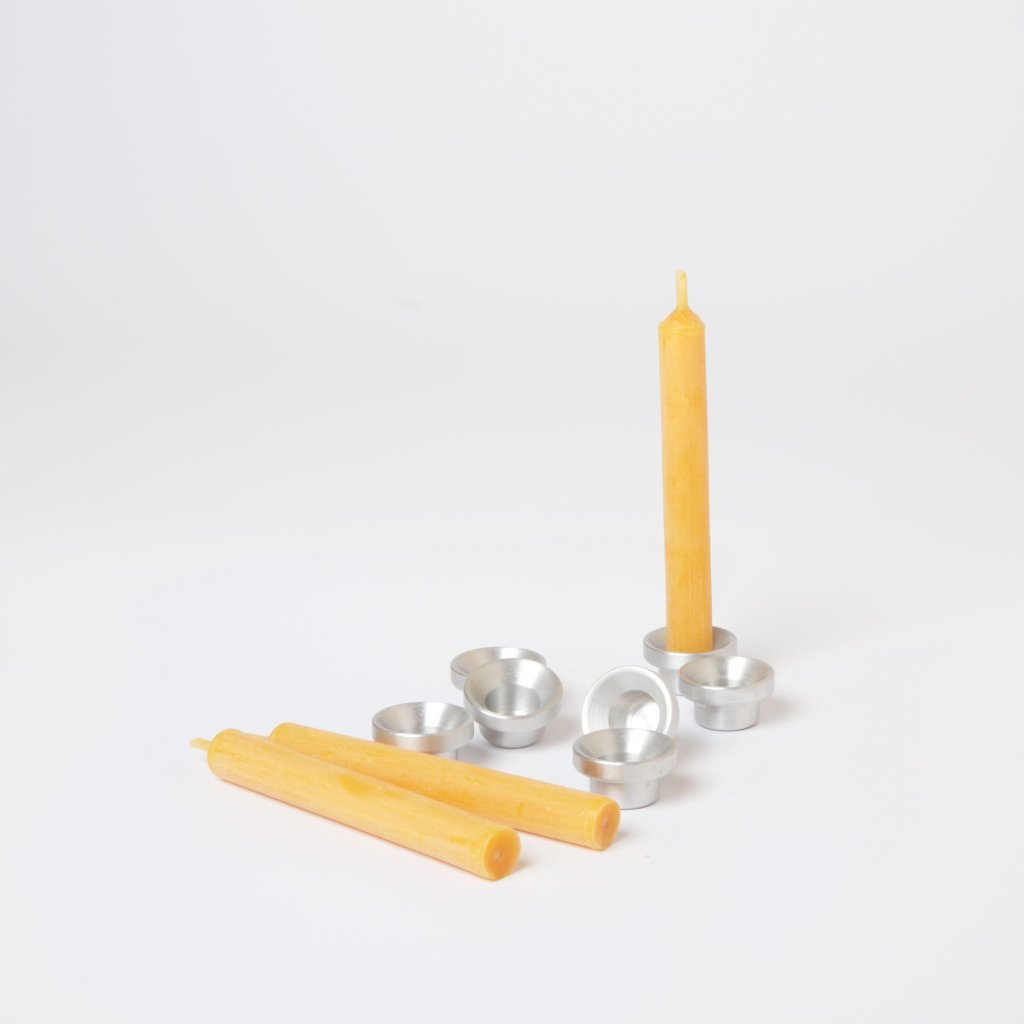 Aluminium Candle Holders for Celebration Rings, Spirals and Stars