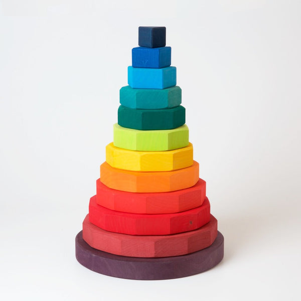 Grimm's Large Geometric Stacking Tower | Conscious Craft