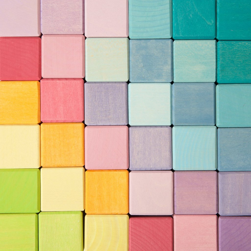 Grimm's Square | 36 Cubes Pastel Colours