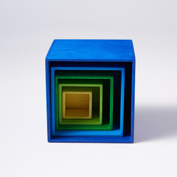Small Nesting Boxes - Cool Colours By Grimm's