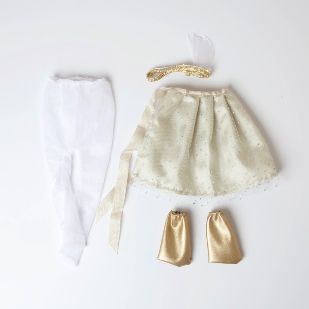 Hazel Village Silver And Gold Party Outfit