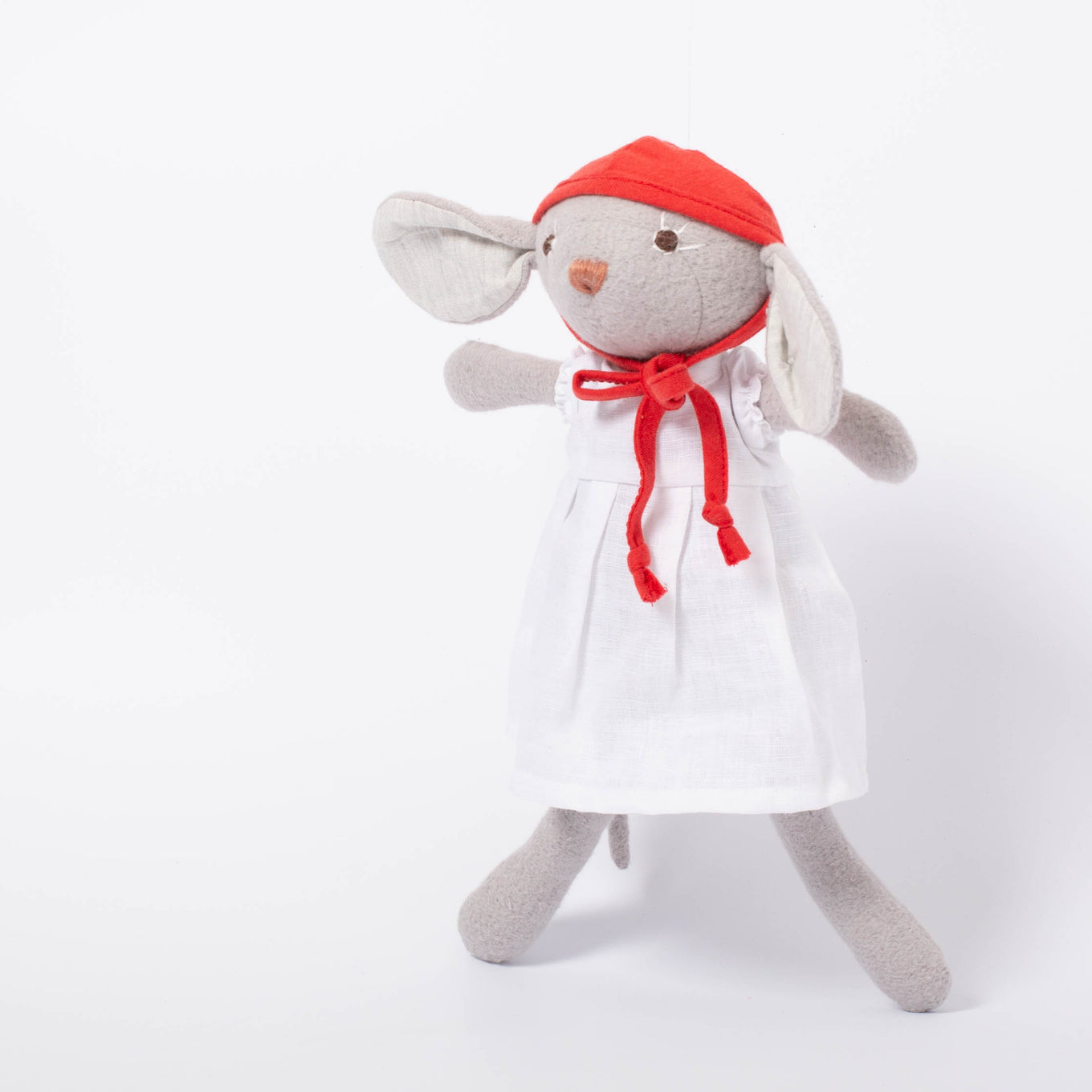 Catalina Mouse | White Linen Dress