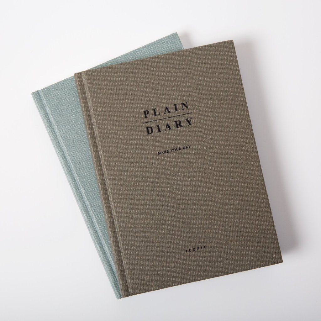 Plain Diary | Khaki Grey
