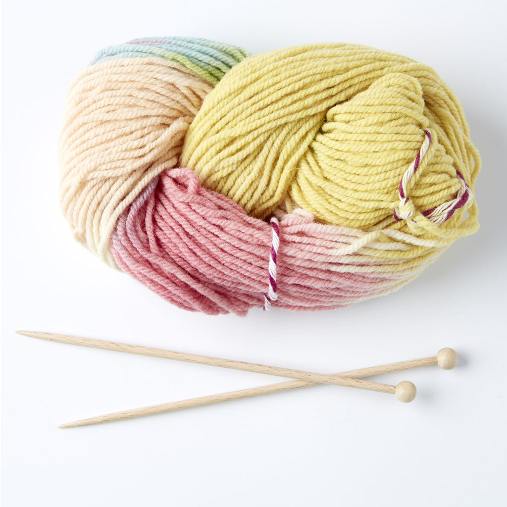 Organic Knitting Kit for Children | Soft Pastel Shades