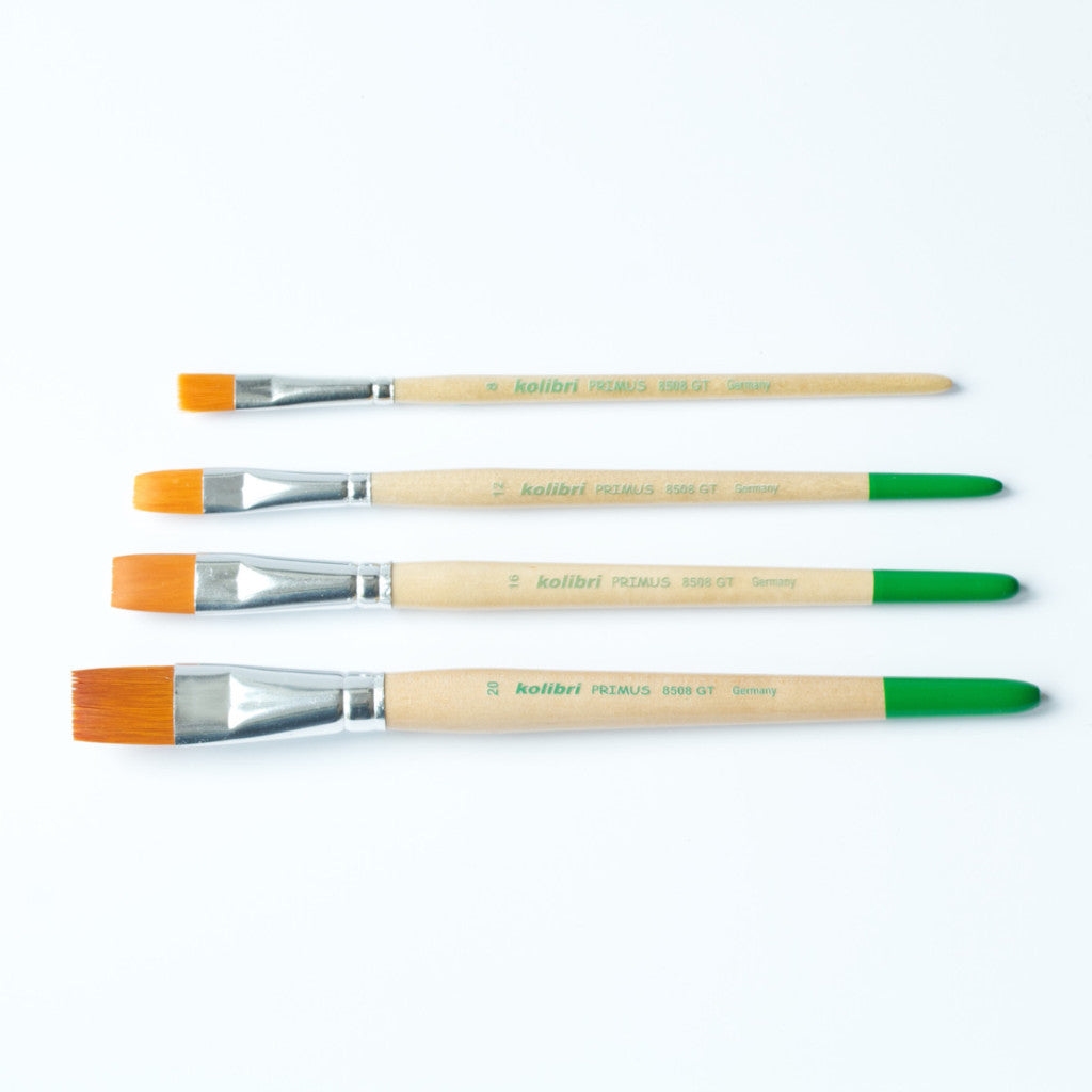 Children's Paint Brushes in 6 sizes | Flat