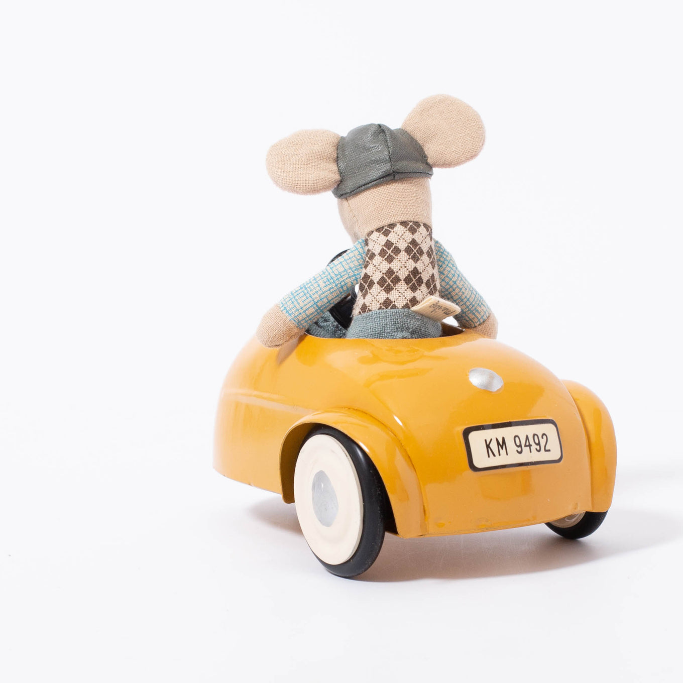Mouse Car With Garage | Yellow