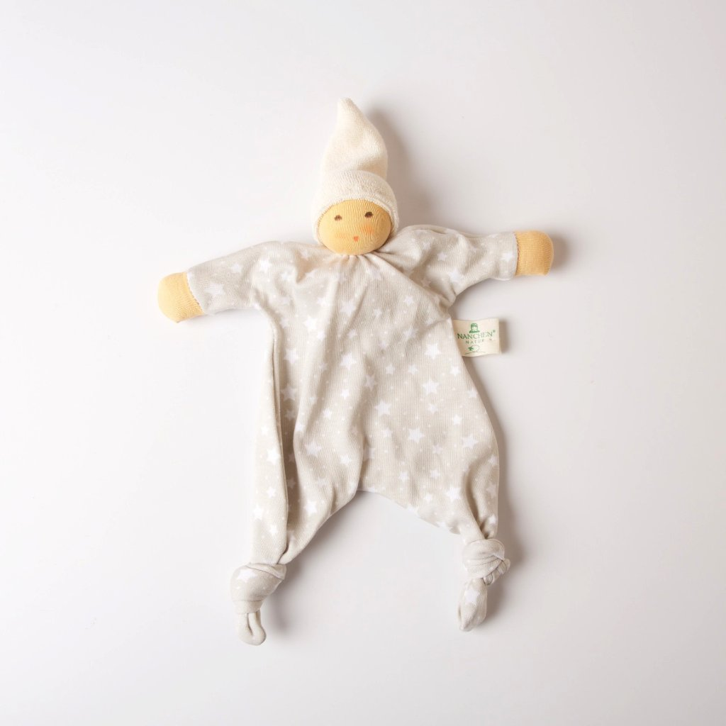 Light Oatmeal Star Blanket Doll