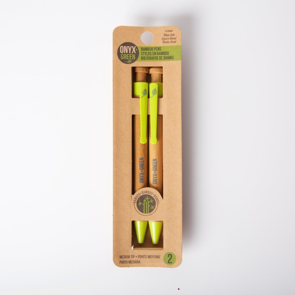 2 Pack Bamboo Retractable Ball-Point | Blue