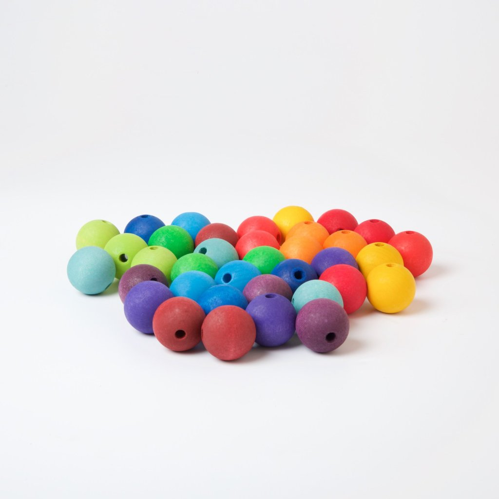 Coloured Wooden Beads | 30mm