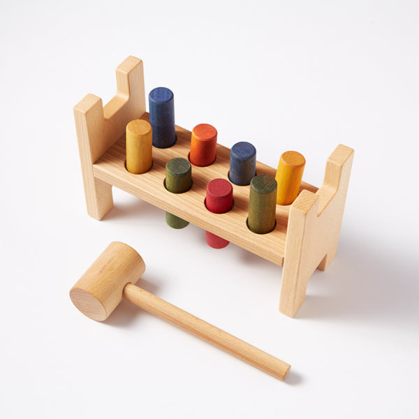 Pound-a-peg from Wooden Story - Conscious Craft