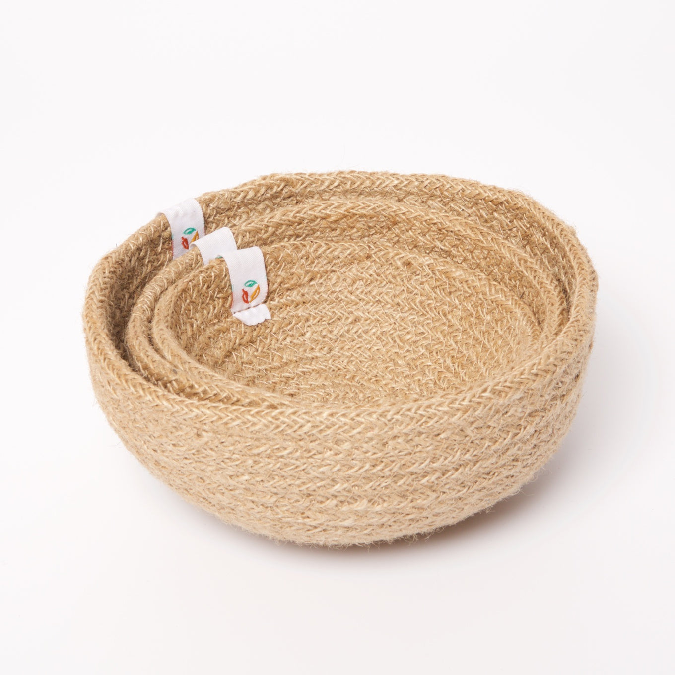 Jute Mini Bowl Set | Natural