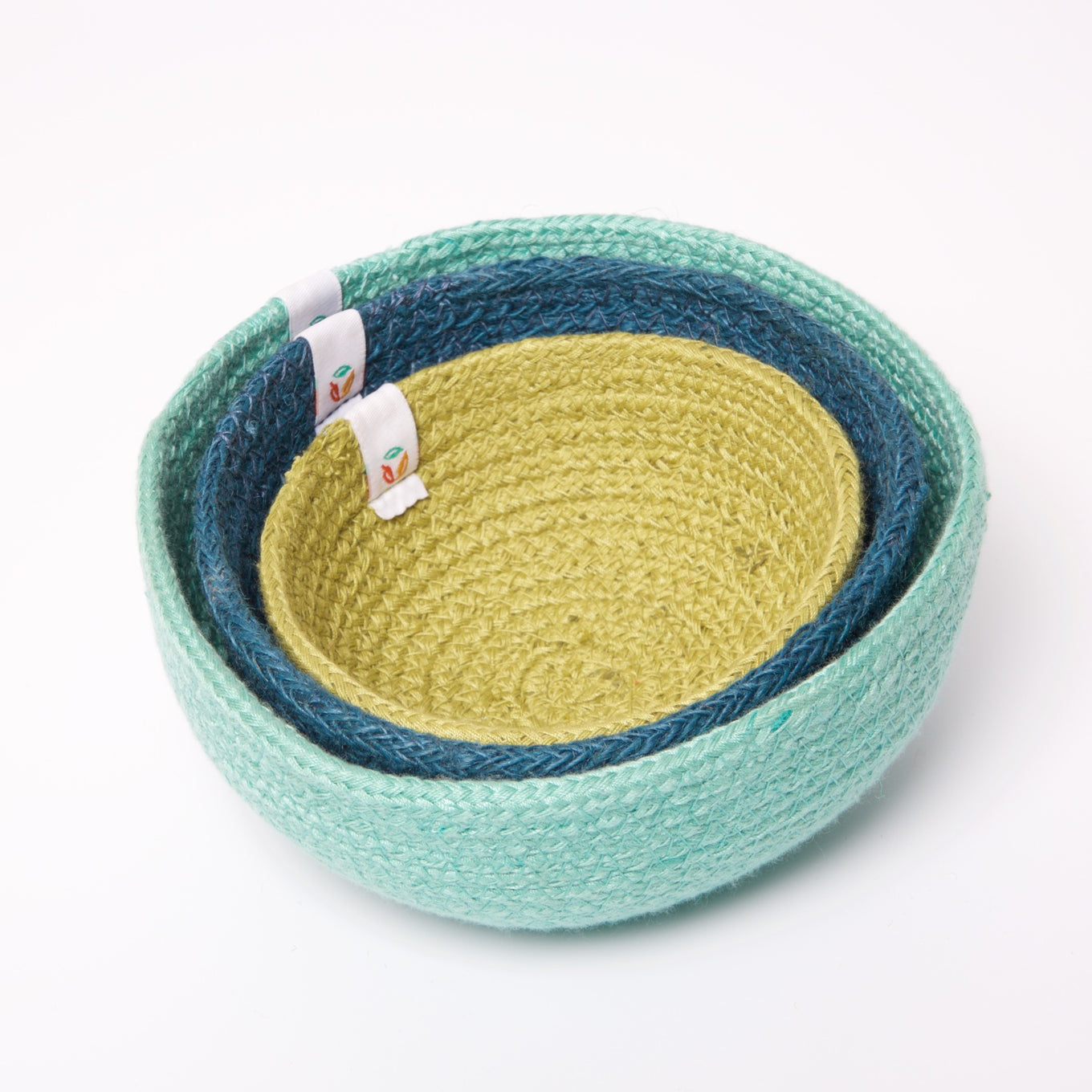 Jute Mini Bowl Set | Ocean