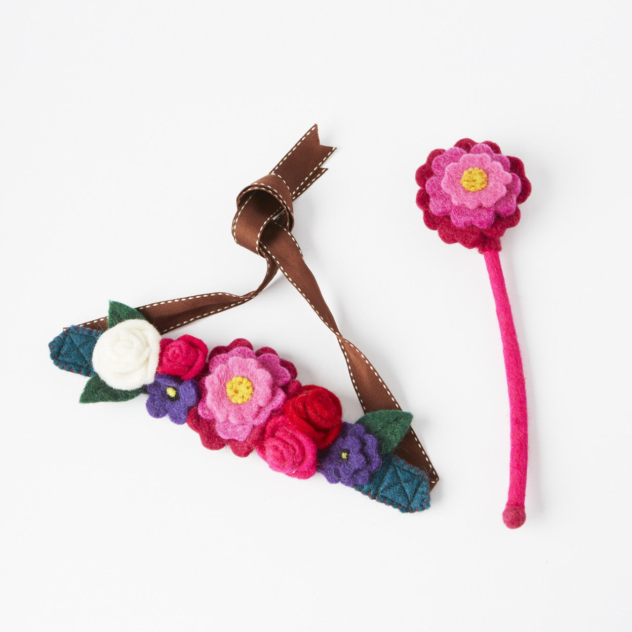 English Garden Fairy Crown & Flower Wand