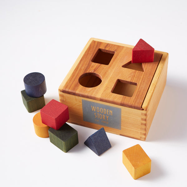 Shape Sorter Natural Wood from Wooden Story