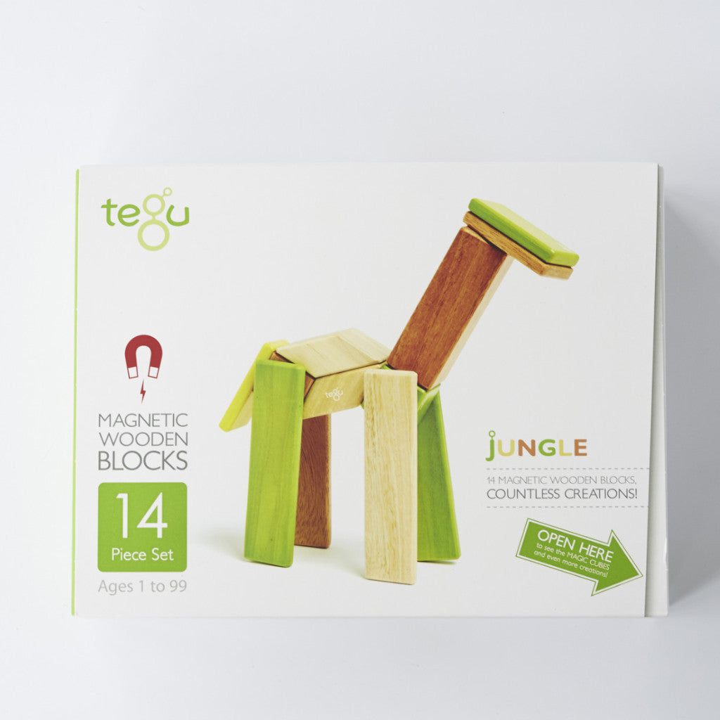 Tegu 14 Magnetic Blocks | Jungle