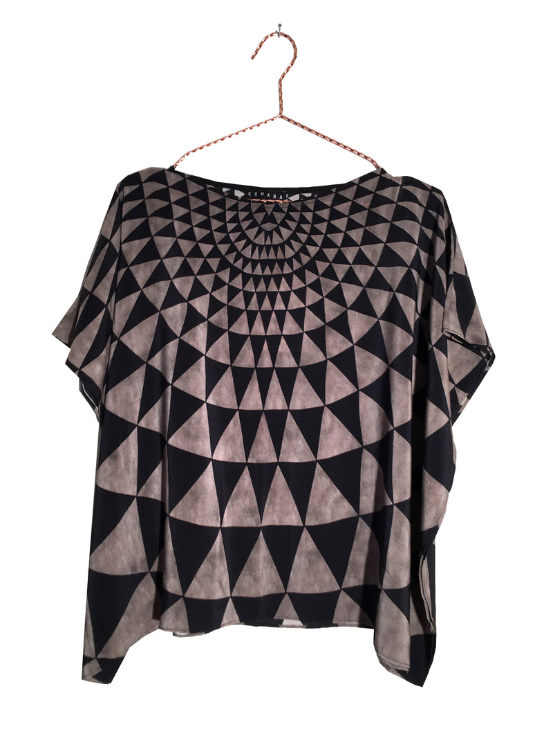 Triangle Silk Kaftan Top