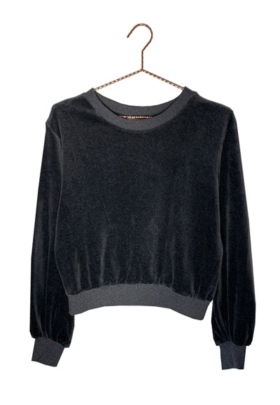 Bosley Jumper Black Marl in Velvet
