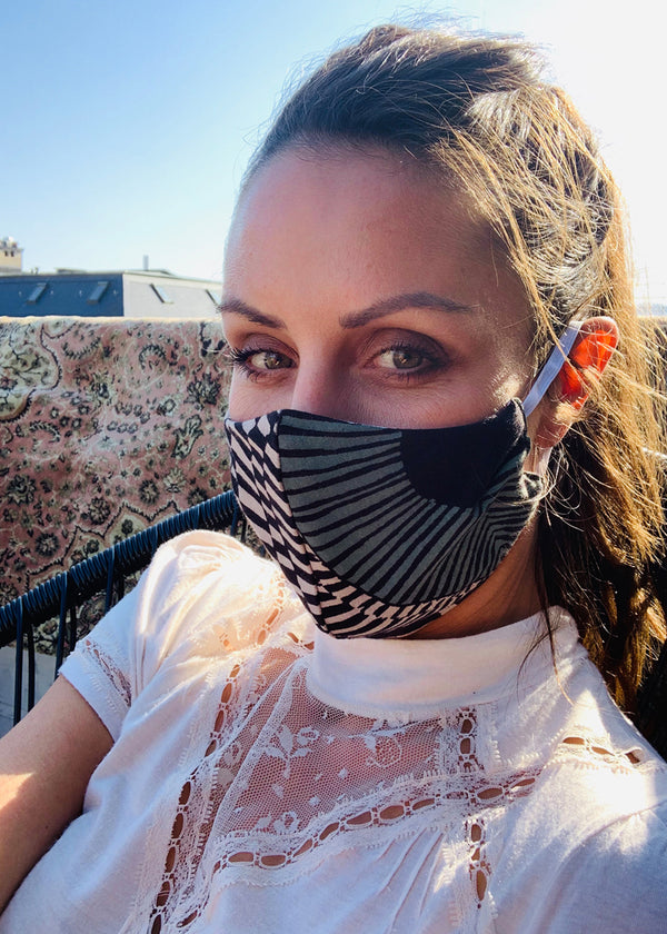 Organic cotton & bamboo printed MASKS