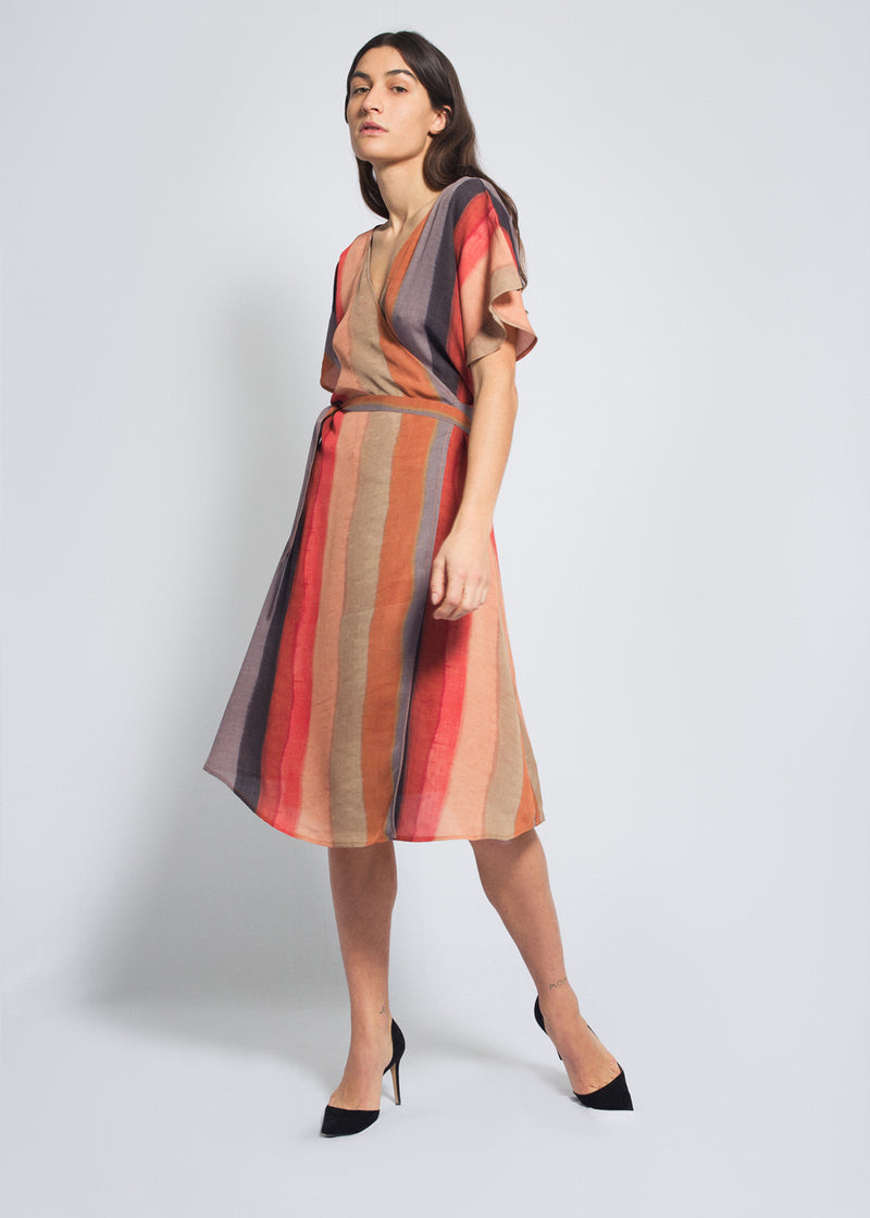 Astra Wrap Dress Dunes Print