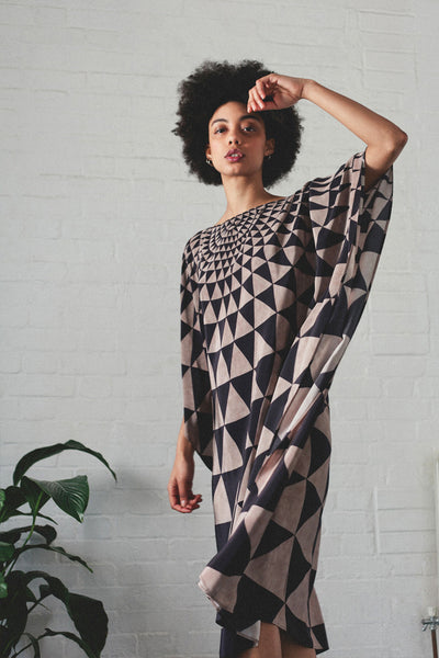 Triangle Silk Kaftan