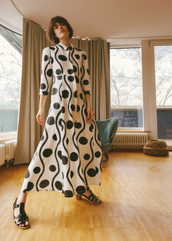 Munari Dress with Block Print