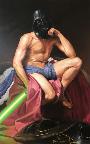 Thierry Bruet - I Am Your Mom, Oil on canvas 130x81
