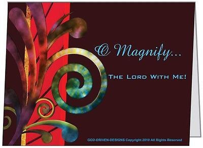 O Magnify the Lord With Me Inspirational Cards 5/Pack Set