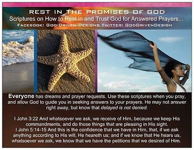 Rest in God's Promises Starfish Beach Prayer Card
