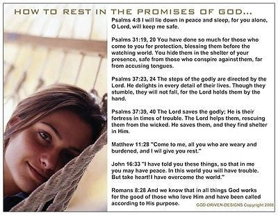 How to Rest in the Promises of God Prayer Card